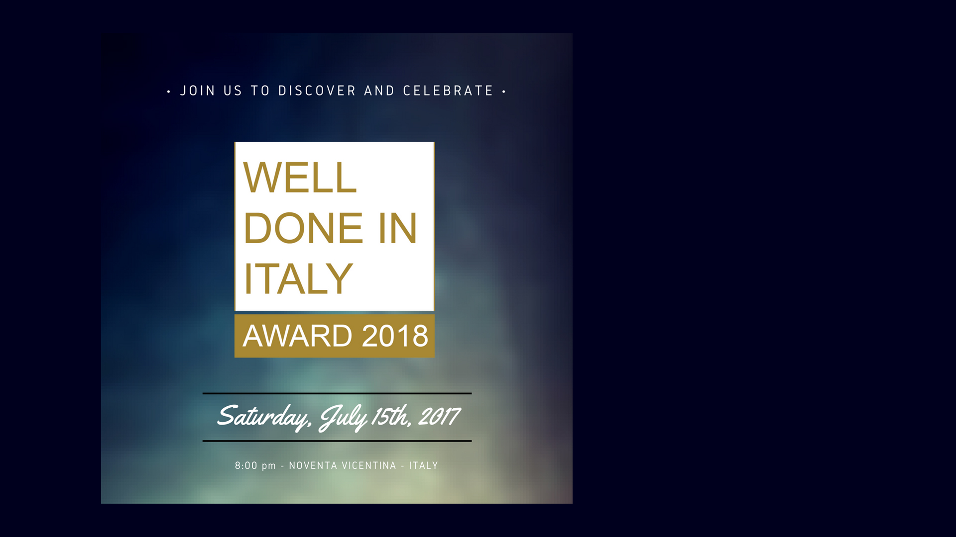 WELL DONE IN ITALY AWARDS